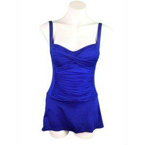 La Blanca Skirted One Piece Swimsuit Size 6 Blue